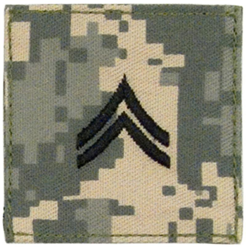 WorldMilitary - ACU Army Corporal Rank Insignia with Velcro  Hook