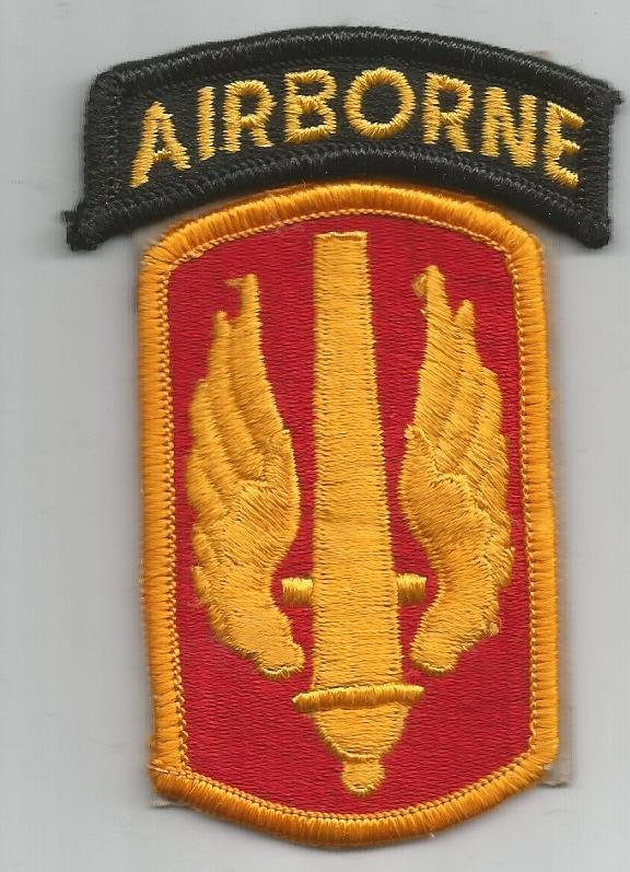 Eagles of war patch, 18th fires brigade / 18th field artillery.