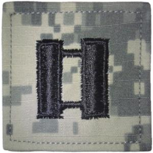 ACU Army Captain Rank Insignia with Velcro. Hook fastener