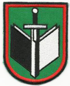 Military Advanced Training Centre. Patch for parade dress uniform . Obsolute. Lithuania