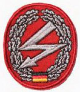 "Bundeswehr Embroidered Beret Insignia ""Signal Troops"". Germany Federal Defence Force"