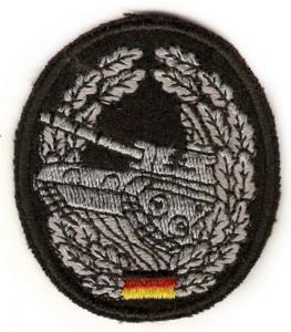 "Bundeswehr Embroidered Beret Insignia ""Armor force"". Germany Federal Defence Force"