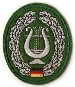 "Bundeswehr Embroidered Beret Insignia """"Military music service"""". Germany Federal Defence Force"