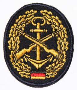 "Bundeswehr Embroidered Beret Insignia ""Navy Guard"". Germany Federal Defence Force"