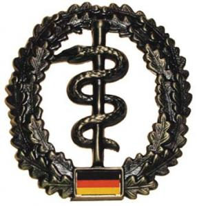 "Bundeswehr Beret Metal Insignia ""Medical Corps"". Germany Federal Defence Force"