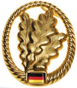 "Bundeswehr Beret Metal Insignia ""Jaeger units"". Germany Federal Defence Force"