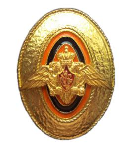 Gold Cap Badge of sergeants, soldiers and cadets of the Federal Border Service of Russia
