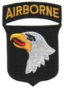 The 101st Airborne Division Color Patch. US Army