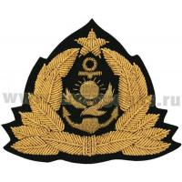 Admirals and Senior officer ranks Cap Badge of the Navy Kazakhstan