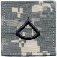 ACU Army Private First Class Rank Insignia with Velcro. Hook fastener