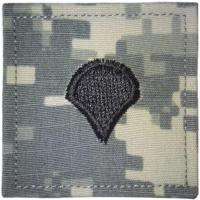 ACU Army Specialist Rank Insignia with Velcro. Hook fastener