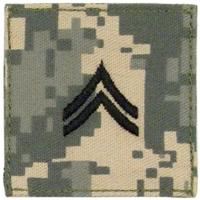 ACU Army Corporal Rank Insignia with Velcro. Hook fastener