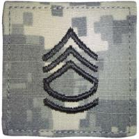 ACU Army Sergeant First Class Rank Insignia with Velcro. Hook fastener