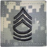 ACU Army Master Sergeant Rank Insignia with Velcro. Hook fastener
