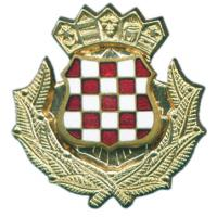Metal Badge of Army of Croatia