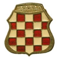 Beret Metal Badge of the Croatian Defence Council (HVO)