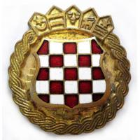 Croatian Army Beret Metal Badge. Yugoslavian Wars. Croatia