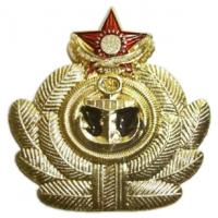 Cap Badge of officers and admirals of the Navy Kazakhstan