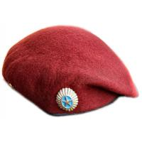 Red Beret with metal badge of the Armed Forces of Kazakhstan