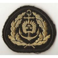 Naval forces officer embroidered cockade, 1 variant /Latvian National Armed Forces/