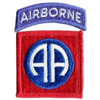 The 82nd Airborne Division Patch. US Army