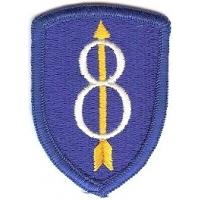 8 Infantry Division Patch. US Army