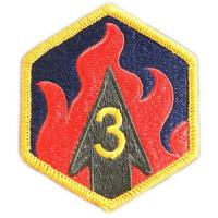 3 Chemical Brigade Patch. US Army