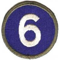 6 Corps Patch. US Army