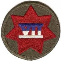7 Corps Patch. US Army