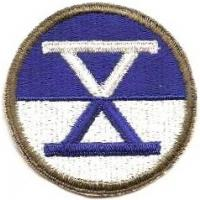 10 Corps Patch. US Army
