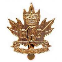 Royal Canadian Army Cadets Brass Cap Badge