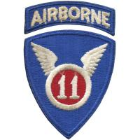11th Airborne Infantry Division Patch. US Army