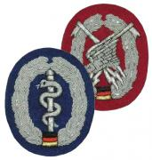 Bundeswehr Beret Cloth Embroidered Badges
